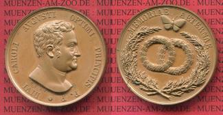 Bonzemedaille 1828 o.J. Sachsen-Weimar-Eisenach Carl August, 1775-1828. Auf seinen Tod vz-prfr.. feine Tönung  Belag