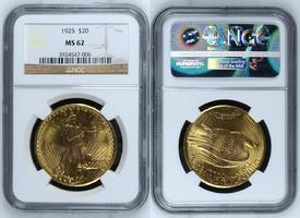 20 Dollars Goldmünze Double Eagle 1925 USA USA 20 Dollars St. Gaudens NGC Zertifiziert MS 62