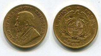 1 Pond Pfund 1898 Süd Afrika Gold Ohm Krüger s-ss