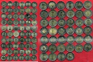 Satz 100 x 2 Euro Gedenkmünzen verschiedene Europa 2 Euro Gedenkmünzen diverse Motive 100 Stück Bankfrisch lose
