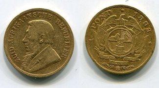 1 Pond Pfund 1893 Süd Afrika Gold Ohm Krüger s-ss