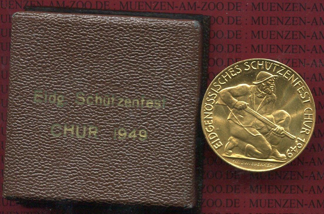 Schützenmedaille Gold 1949 Schweiz Chur Schützenfest Schweiz ...