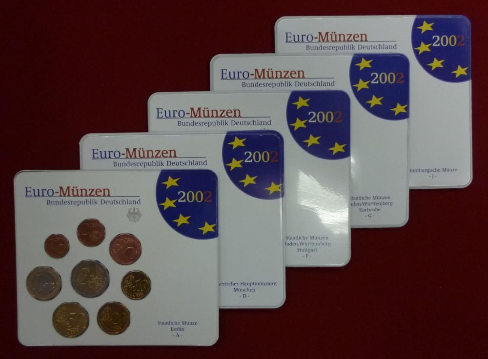 Kms Komplett 5 Platten Ovp 2002 Bundesrepublik Deutschland