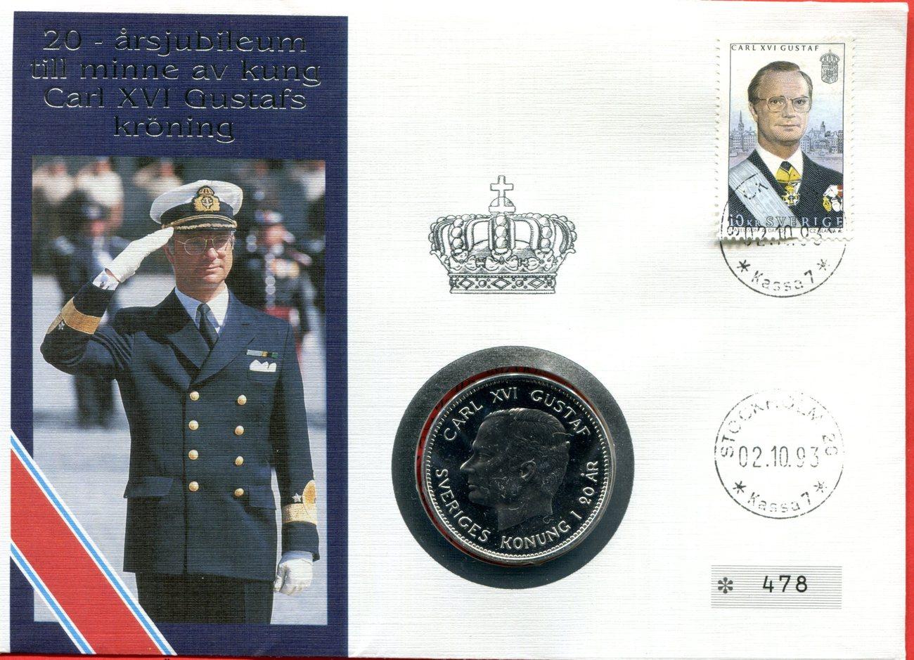 200 Kronen Numisbrief 1993 Schweden Sweden Schweden Numisbrief 20