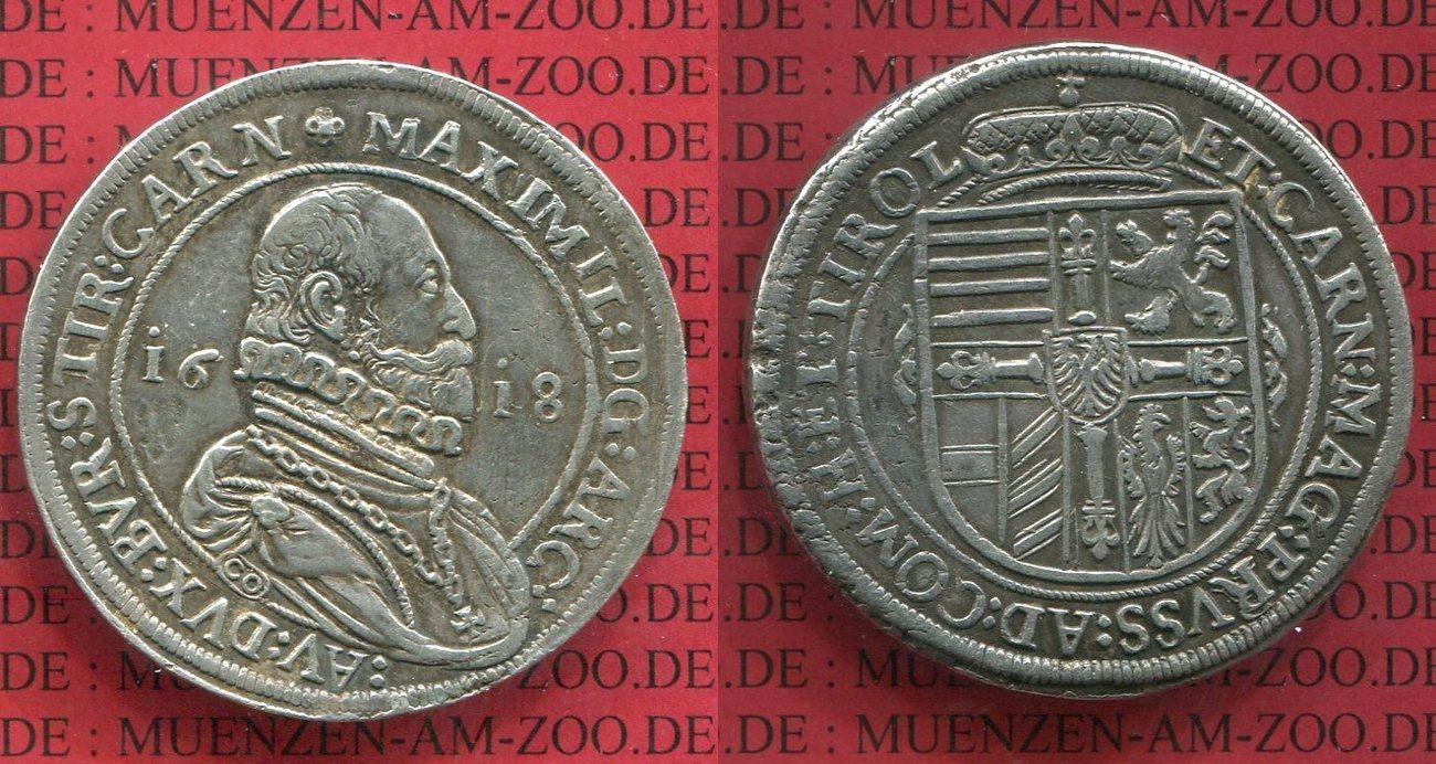 Taler Thaler 1618 Deutscher Orden Deutscher Orden Taler 1618