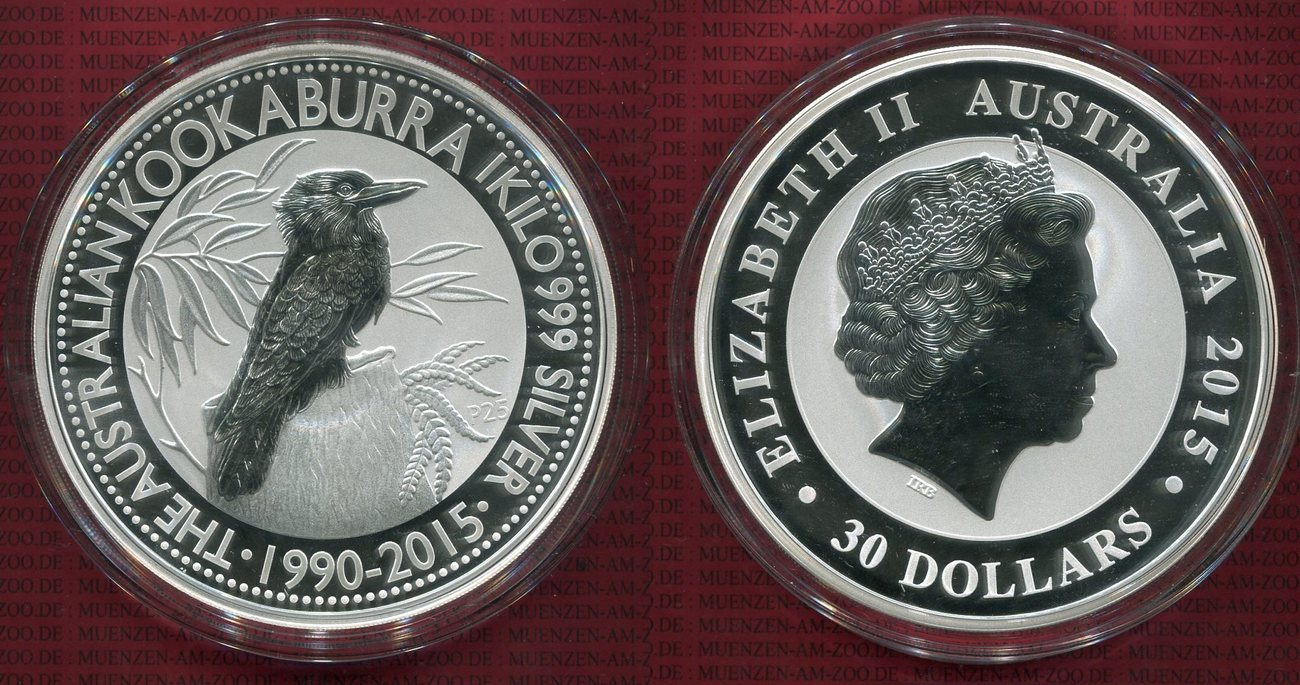 1 Kilo Kookaburra 30 Dollars 2015 Australien Australia Australien