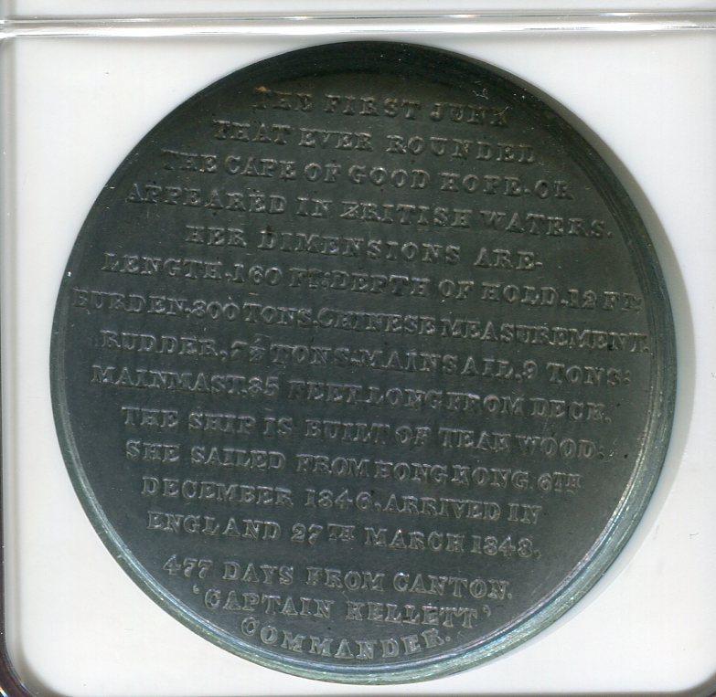 British Historical Medal Zinn 1848 Großbritannien, England NGC ...