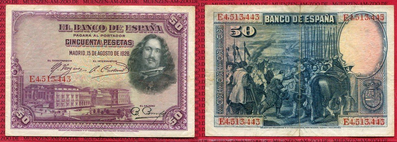 1928  SPAIN   50  PESETAS