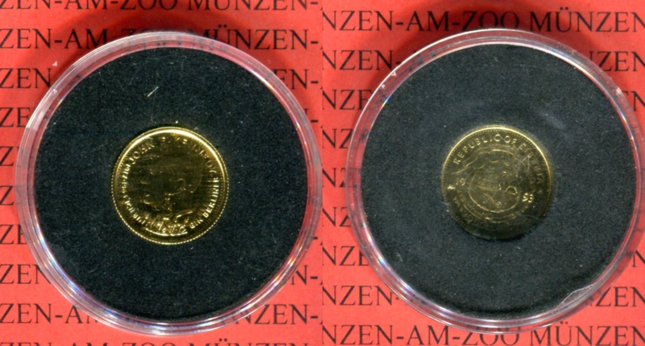 20 Dollars Minigoldmünze 1993 Liberia John F Kennedy Proof Ma Shops