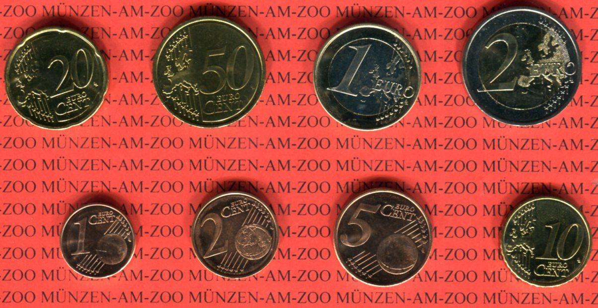 Kms 388 Euro 2007 Slowenien Kursmünzensatz Lose 8 Münzen Unc Ma Shops