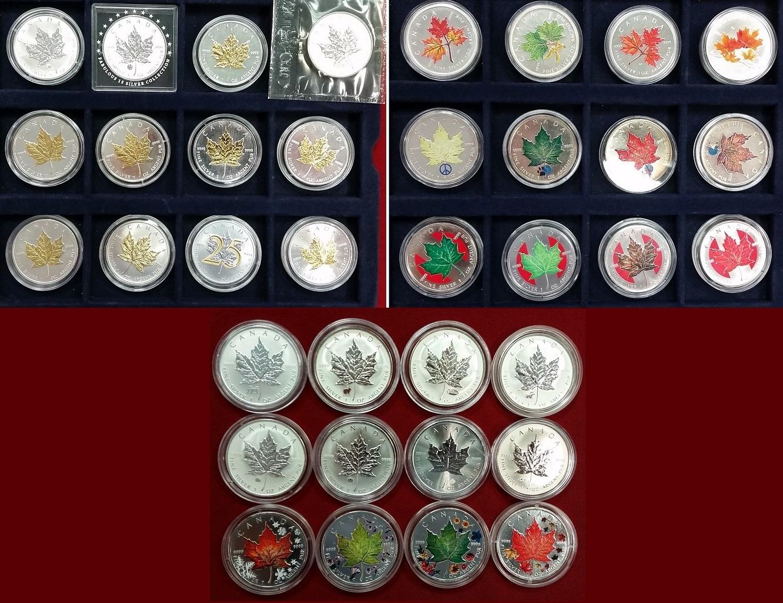 36 X 5 Dollar Münzen Außergewöhnliche Sammlung Versch Jahre Kanada