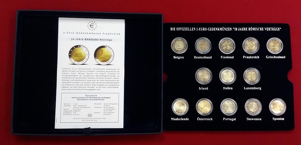 Satz 13 X 2 Euro Gedenkmünzen 2007 Bundesrepublik Deutschland Europa