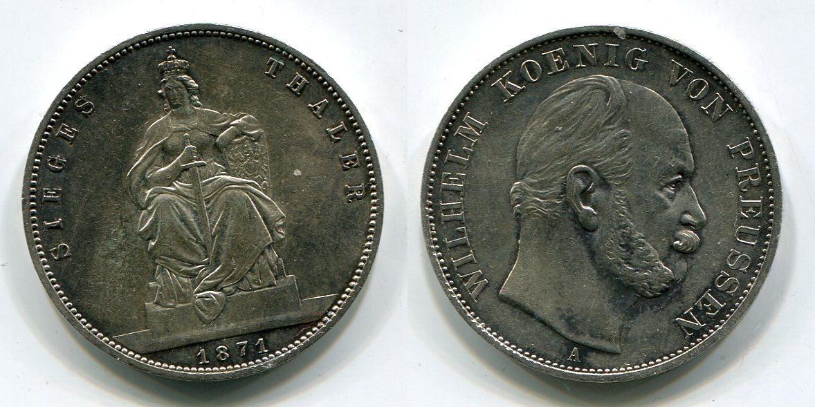1 Taler Siegestaler 1871 Preußen Prussia Sieg über Frankreich