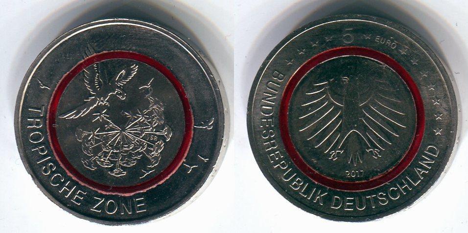 5 Euro Münze 2017 A Bundesrepublik Deutschland Tropische Zone