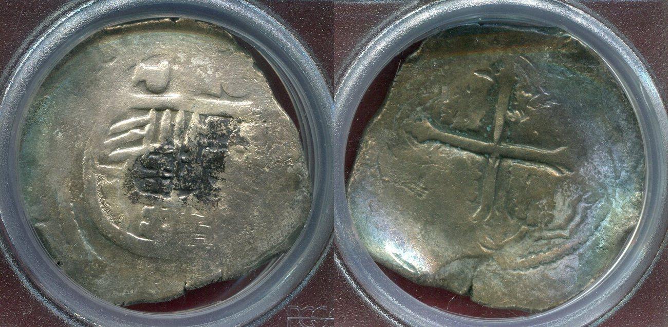 8 Reales ND 1621 67 Mexico Cob Coin Schiffsgeld PCGS VF 20