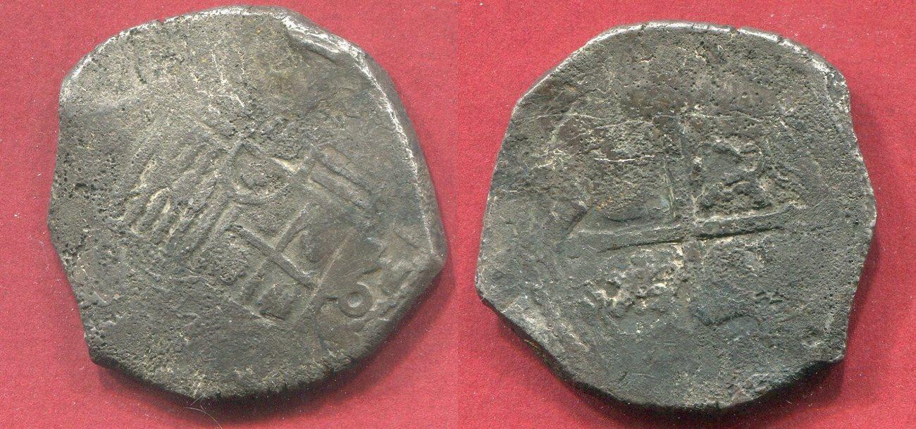8 Reales MEXICO Schiffsgeld Mexico Cob Coin F Environmental Damage