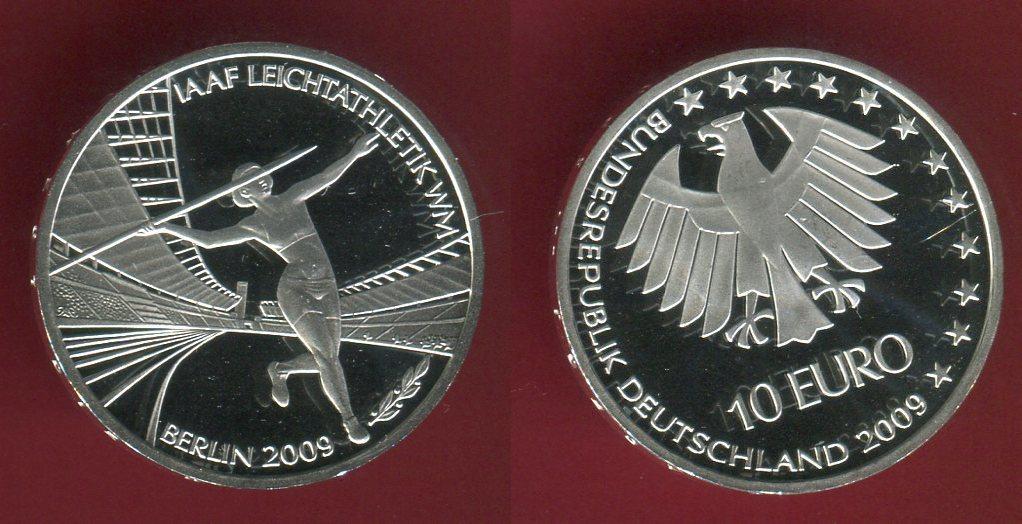 10 Euro Silbermünze Commemorative Coin 2009 G Bundesrepublik