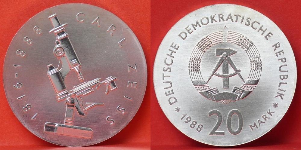 20 Mark Gedenkmuenze 1988 Deutsche Demokratische Republik Ddr