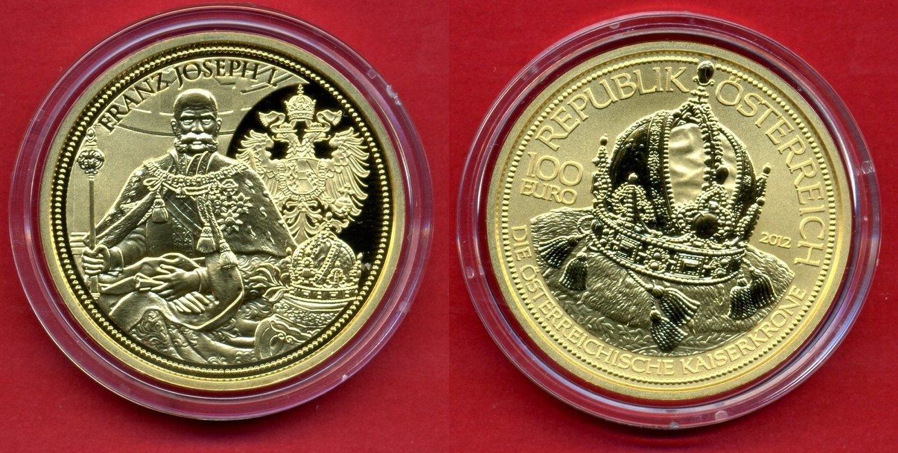 100 Euro Goldmünze 2012 österreich Die österreiche Kaiserkrone