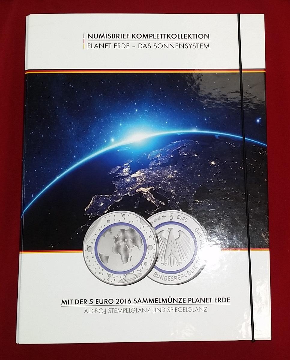 10 X 5 Euro Münzen Komplett A D F G J Polymerring 2016 Bundesrepublik Deutschland Blauer Planet Erde Komplettsatz Numisbrief Komplettkollektion Bu