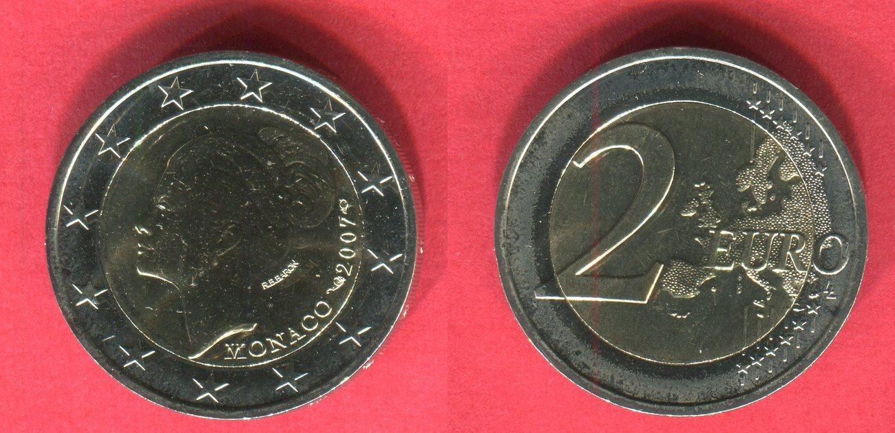 2 Euro Gedenkmünze 2007 Monaco Prinzessin Grace Kelly Lose Ohne