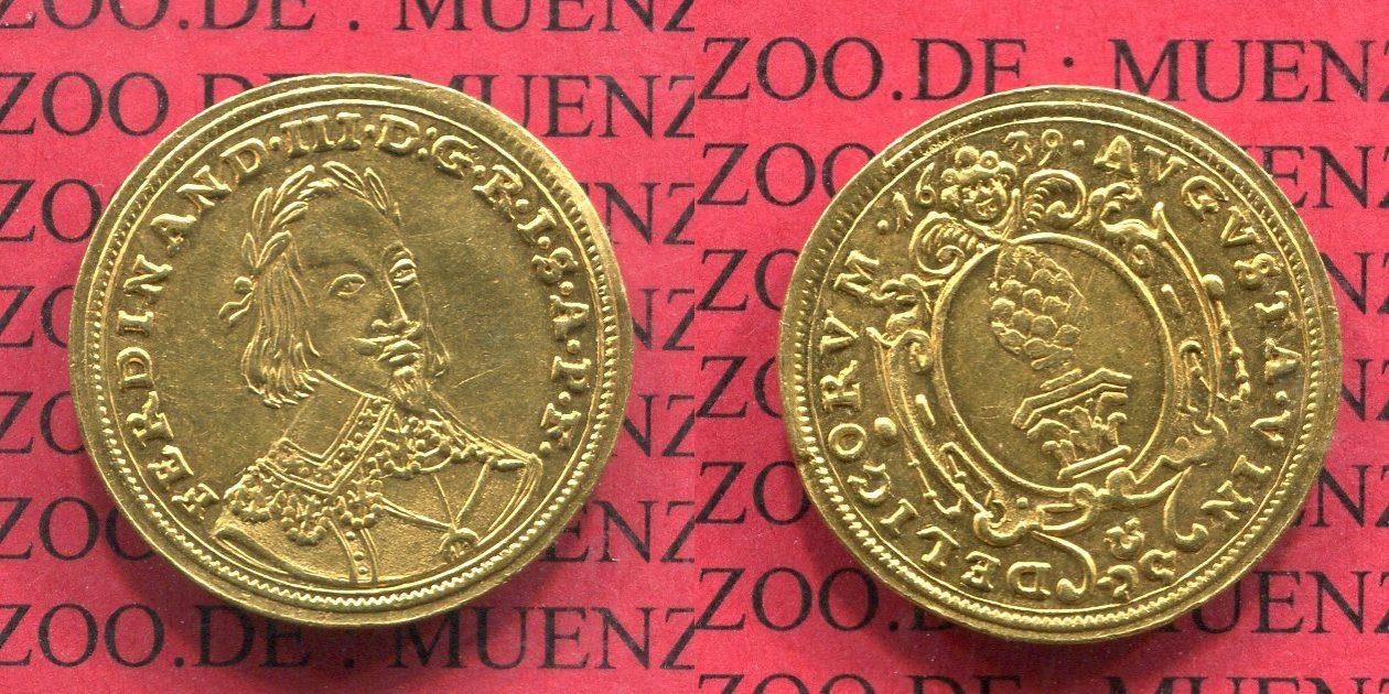1 Dukat Goldmünze 1639 Augsburg Stadt Augsburg Stadt Dukat 1639