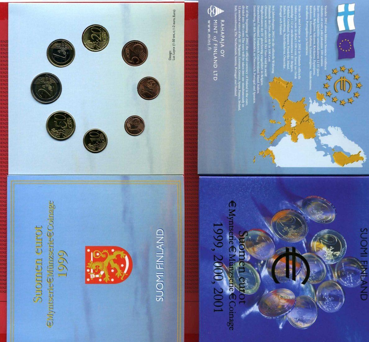 Euro Kursmünzensätze Kms 990001 Finnland Finland Finnland Euro