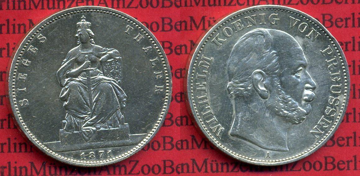 1 Taler Siegestaler 1871 Preußen Preußen Siegestaler 1871 Sieg über