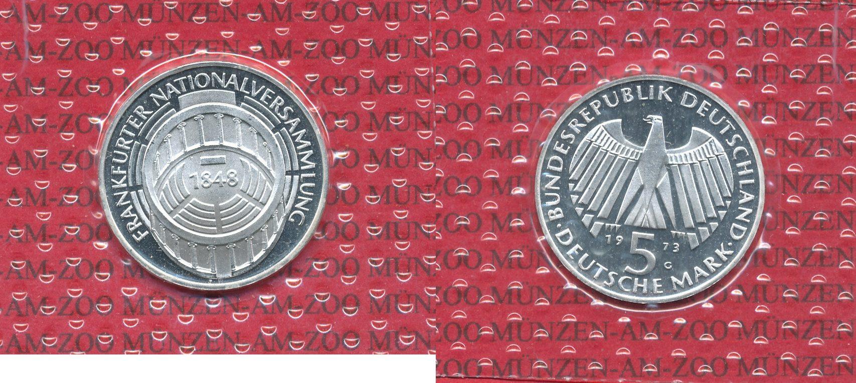 5 Dm Gedenkmünze Silber 1973 Bundesrepublik Deutschland