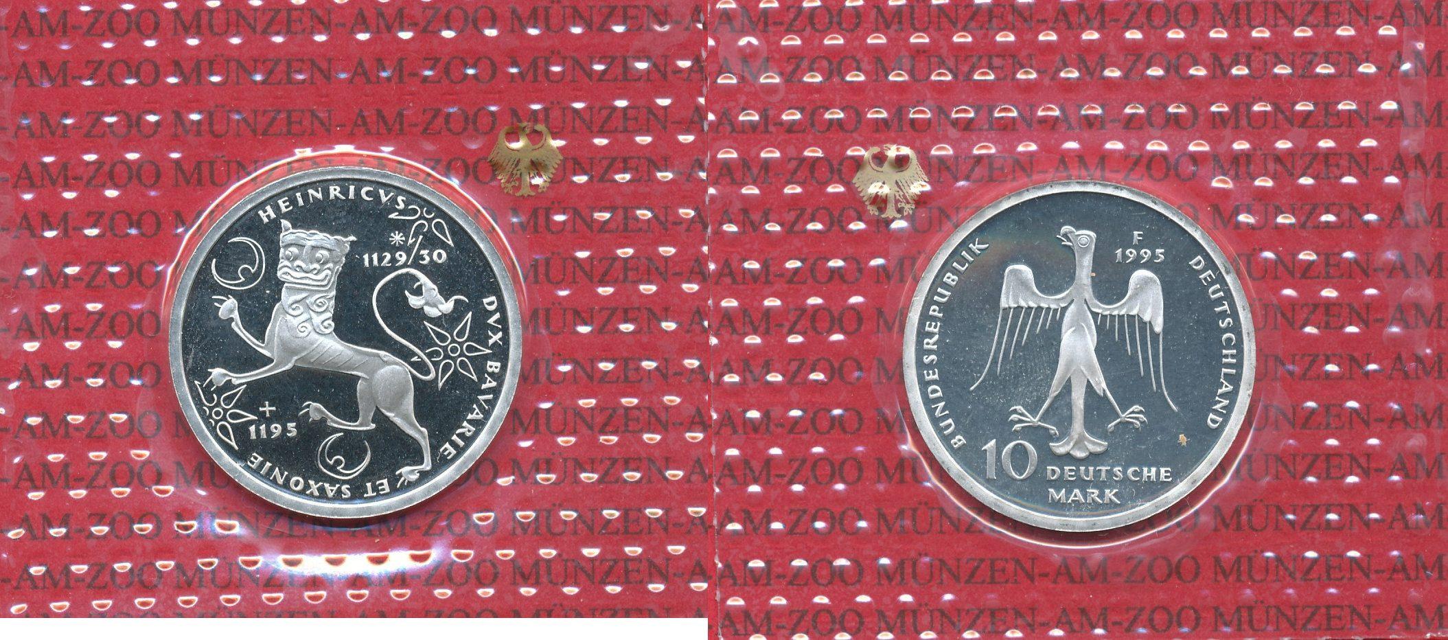 10 Dm Gedenkmünze Silber 1995 Bundesrepublik Deutschland