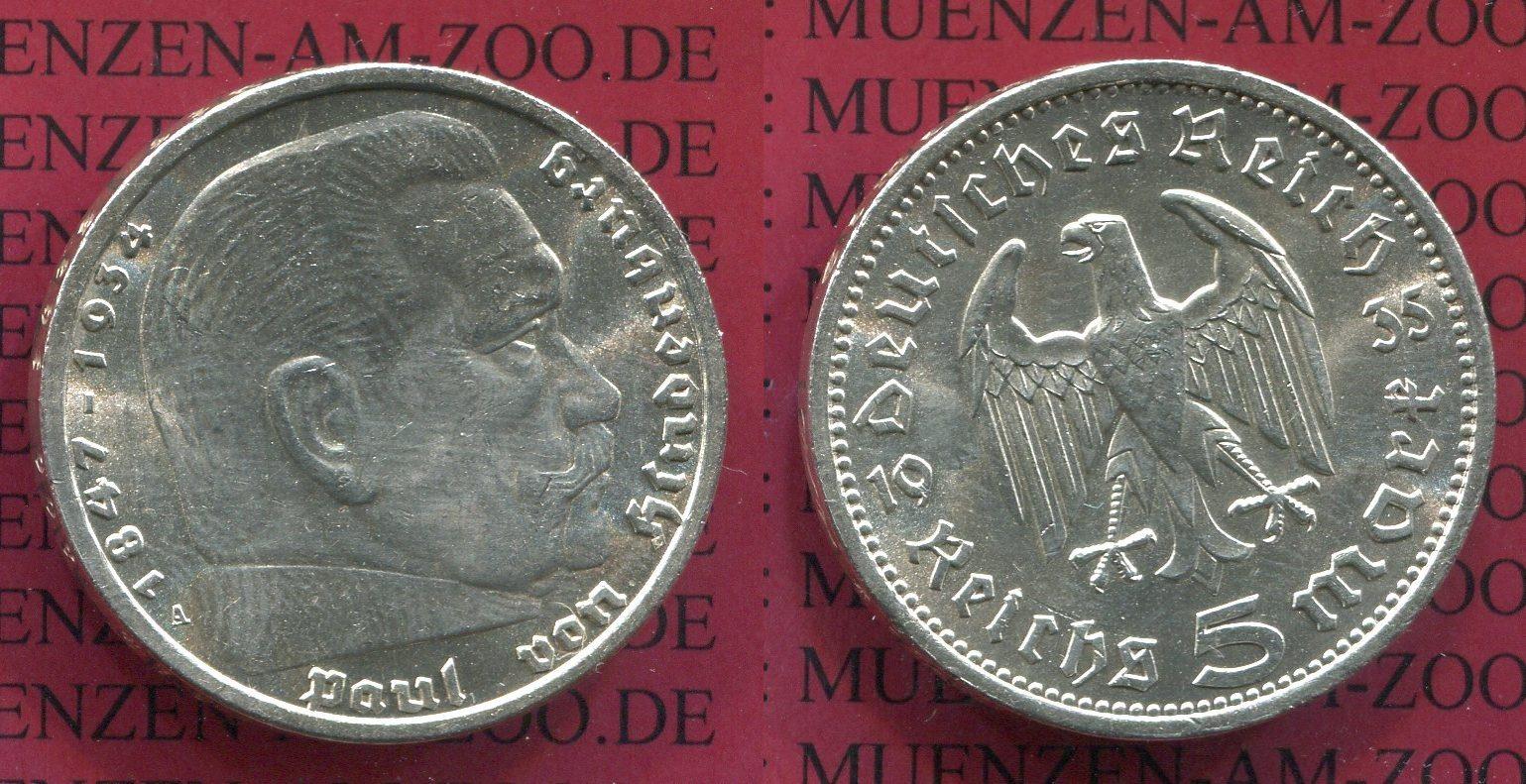 5 Reichsmark 1935 A Iii Reich Iii Reich 5 Reichsmark 1935 A