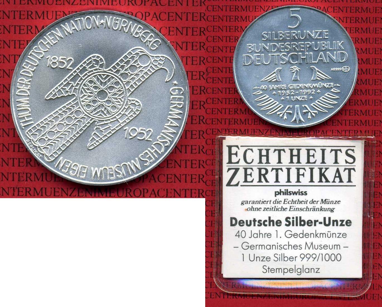 Medaille 1992 Deutschland Deutschland Brd 1992 Medaille Germanisches