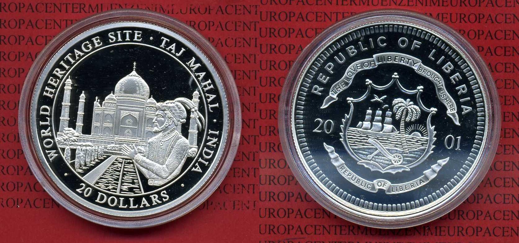 20 Dollars Silber Münze 2001 Liberia Liberia Silber 20 Dollars 2001
