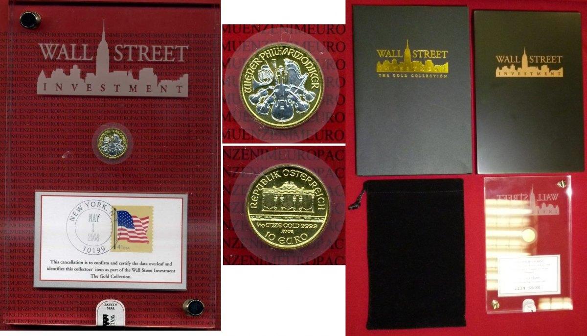 10 Euro 110 Unze Philharmoniker Gold 2008 österreich