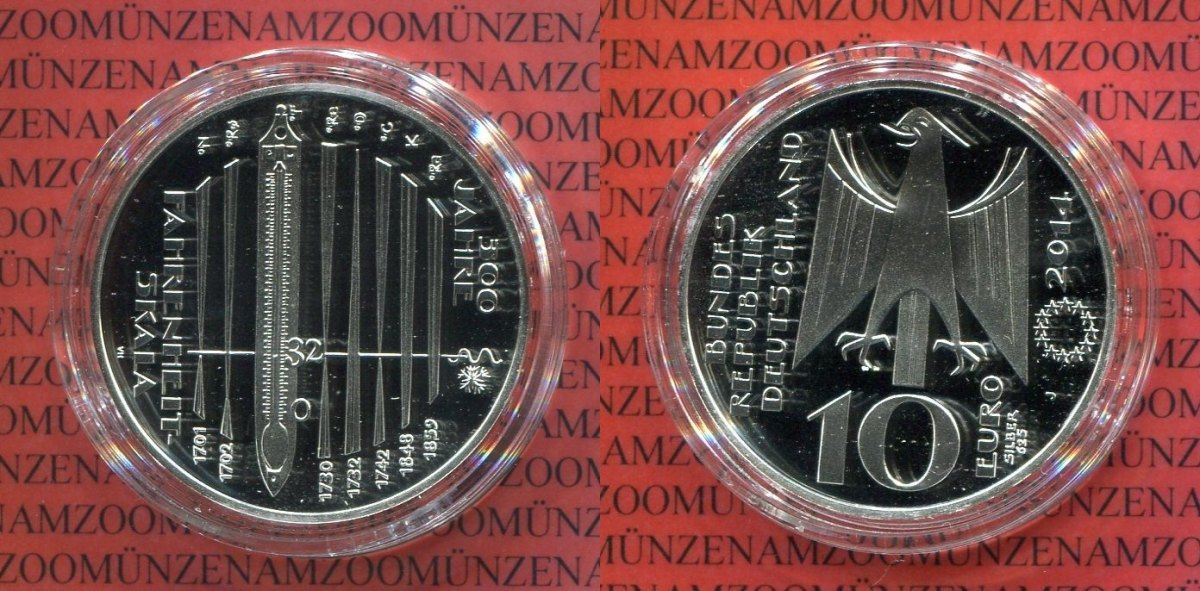 10 Euro Silbermünze Commemorative Coin 2014 Bundesrepublik