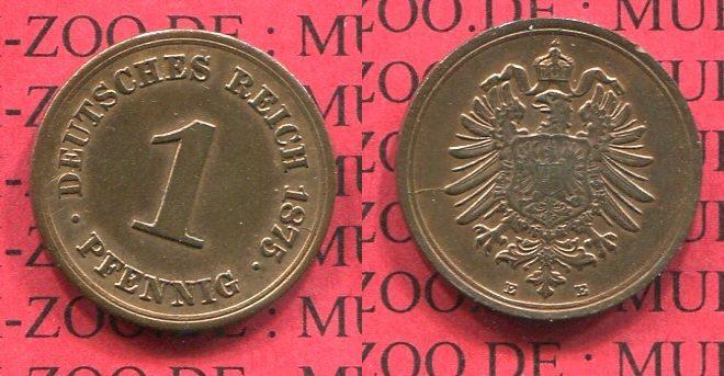1 Pfennig 1876 A Kaiserreich Kleinmünze Nach Jäger Kaiserreich