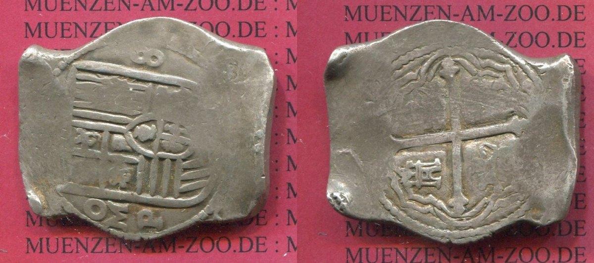 8 Reales Silbermünze Philipp Iv Oj Mexico Mexiko Unter Spanien