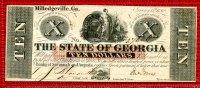 10 Dollars Banknote Ausgegeben !!! 1862 St...