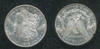 USA 1 Dollar Morgan Typ USA 1878 CC, 1 Dollar Morgan Typ Silber Carson City