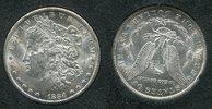 USA 1 Dollar Morgan Typ USA 1884 CC, 1 Dollar Morgan Typ Silber Carson City