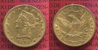 10 Dollars Gold Liberty  Eagle 1893 USA US...