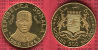 500 Shillings Goldmünze 1966 Somalia Somala 5 Jahre Unabhängigkeit 5 th... 2750,00 EUR  +  8,50 EUR shipping