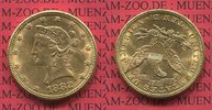 10 Dollars Gold 1882 USA Liberty, Frauenko...