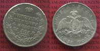 1 Rubel Silber 1831 Russland Russia Rouble...