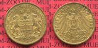 20 Mark Gold 1899 Hamburg, German Empire F...