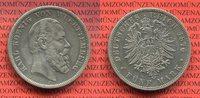 Württemberg 5 Mark Silbermünze König Karl
