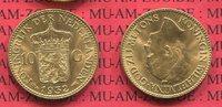 10 Gulden Goldmünze Kursmünze 1932 Niederl...