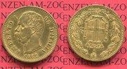 20 Lire Lira Goldmünze 1882 Italien Italy,...