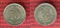 10 Pfennig 1876 J Kaiserreich Kleinmünze n...