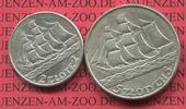 2 und 5 Zloty Silber 1936 Polen, Poland 19...